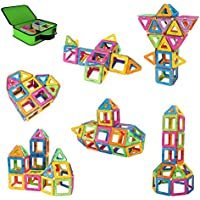Magnetic Building Blocks, Magnet Building Blocks, Kids Magnetic Toys Construction kits, Building Tiles Blocks for Creativity, Come with Carrying Bag