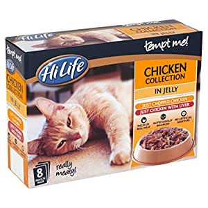 HiLife Tempt Me Cat Food Chicken Collection in Jelly 8 x 85g Pouches (Pack of 4, 32 Pouches in Total)