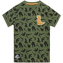 Jurassic World Camiseta Para Niño Dinosaurios Verde 3-4 Años
