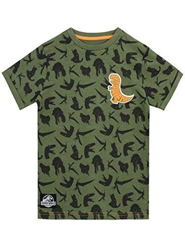 Jurassic World Camiseta Para Niño Dinosaurios Verde 4-5 Años