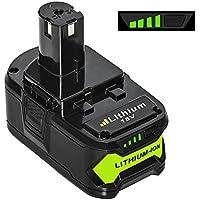LiBatter 18V 5.0Ah Lithium indicateur de recharge de batterie avec Ryobi ONE+ P108 P107 P122 P104 P105 P102 P103