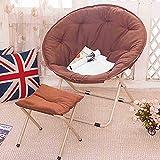 MXRzdya Klappstühle Erwachsene Sonnenliege mit Flossen, PP-Baumwoll-Canvas-Liegestuhl mit einem...