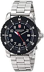 Victorinox Men's 241675 Analog Display Swiss Quartz Silver-ToneWatch
