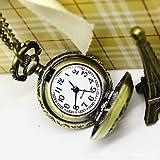 Fenkoo Art und Weise kleine Quarz-Taschen-Uhren 78 cm Kette Uhren Pedanten Halskette kleines Geschenk Mini-Uhren Halskette Uhr