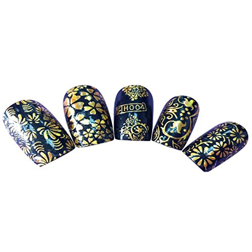 Gaddrt Nail Art Transfer Aufkleber Dekoration Design Maniküre Tipps Decal Dekoration Werkzeug (D) (Lampe Decal)