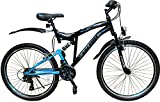 24 ZOLL MOUNTAINBIKE FAHRRAD MIT VOLLFEDERUNG & BELEUCHTUNG 21-GANG SHIMANO OXT BLACK -