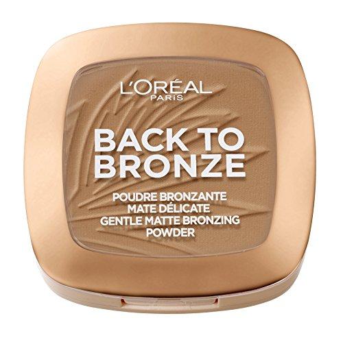 L'Oréal Paris Back to Bronze Gentle Matte Bronzing Powder, Bronzer mit mattem Finish, für einen natürlich gebräunten Look -