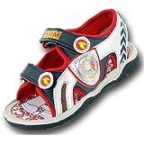 Boys Fireman Sam Cartoon Character Casual Sandal Shoe 61414