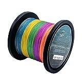 Fil de pêche tressé fil multicolores 300m/1000m, 0,09–0,5mm, 10–80LB