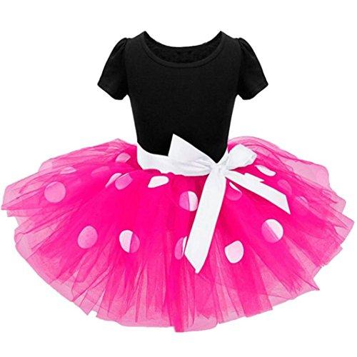 AMUSTER Mädchen Kostüm Kleinkind Kinder Baby Mädchen Kleidung Party Bowknot Ballkleid Prinzessin...