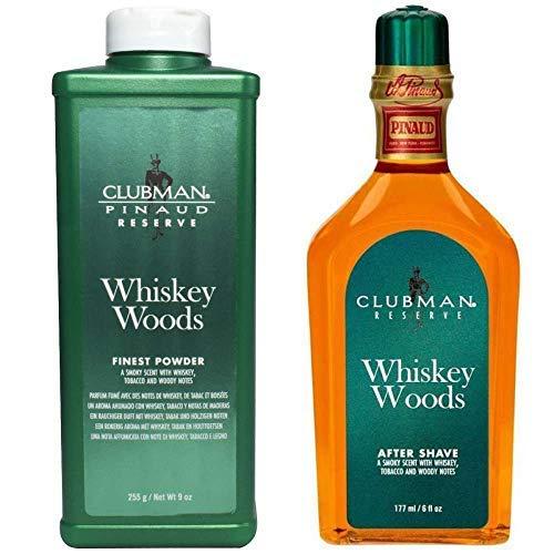 Clubman Whisky Wald Talk Puder und Aftershave Set