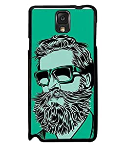 PrintVisa Designer Back Case Cover for Samsung Galaxy Note 3 :: Samsung Galaxy Note III :: Samsung Galaxy Note 3 N9002 :: Samsung Galaxy Note 3 N9000 N9005 (Love Lovely Attitude Men Man Manly)