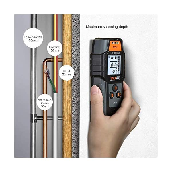 Rilevatore-Digitale-TACKLIFE-DMS03-Rilevatore-di-Metallo-e-Cavi-Elettrici-Stud-Finder-Wall-Scanner-Digitale-Portabile-Multifunzioni-Scan-di-Legna-Metallo-Magneticonon-Magnetico-Cavi-Elettrici