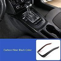 Super11Six Palanca de Cambios Listones de Cubierta del Marco del Panel Adecuado para Au-di A4 B8 2009-2016 A5, Fibra de Carbono ABS Consola Central,Carbon Fiber
