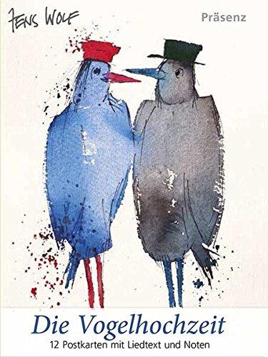 Die Vogelhochzeit: 12 Postkarten mit Liedtext und Noten