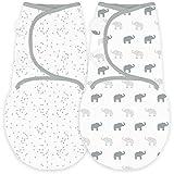 Amazing Baby by SwaddleDesigns - Lot de 2 couvertures langes réglables pour bébé