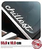 Chillest Frontscheibenaufkleber 55,0 cm x 10,0 cm Auto Aufkleber JDM OEM Tuning Sticker Decal 30 Farben zur Auswahl