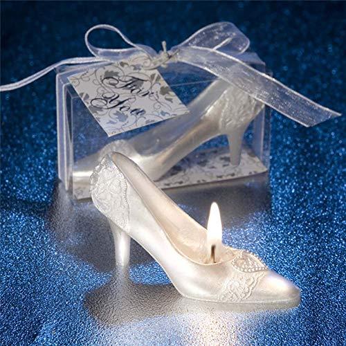 YYHMHMH Kerze romantische märchen Cinderella kristall Schuhe kreative Kerze Hochzeit Valentinstag Home Dekorationen
