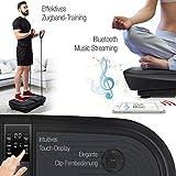 Sportstech Profi Vibrationsplatte VP300 mit 3D Wipp Vibrations Technologie, 2x1000W max Motoren Leistung + Bluetooth Musik, Riesige Fläche, einmaliges Design + Trainingsbänder + Fernbedienung + Poster - 6