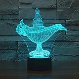 Lozse 3D Nightlights, Gott Lampe 3D-Lichter bunte Acryl visuelle Lampe kreative Projektion 3D-Lichter Roman-Werbung Werbeartikel, bestes Geschenk für Freunde Kinder