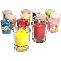 Lot de 2photophores et 6 bougies votives Yankee Candle