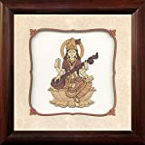 Frames Cottage Saraswati Wooden Photo Frames , Wall Frame , Home Décor , Living Room ( 8 X 8 ) Inch