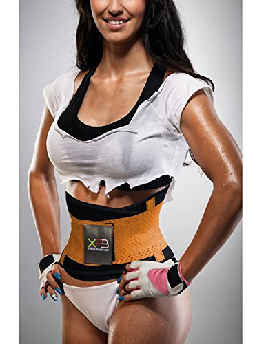 Angelwing Damen Corsage Gürtel Training Sport Unterbrust Taillenmieder Shapewear SportFitness Taillengürtel Orange