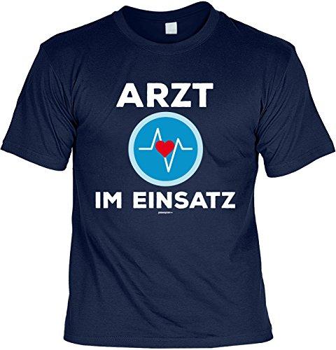 Karneval Faschings T-Shirt Faschingsleiberl Arzt im Einsatz Laiberl zum Fasching witziges Fun Shirt Karnevalzeit Faschingszeit Navyblau