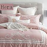 Lipengfei 60 Satin Bestickte Baumwolle Vierteilige Villa Modell Zimmer Amerikanischen Stil Bettwäsche Baumwolle Einfarbige Bettbezüge