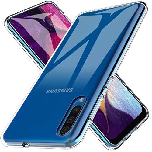 L&K LK Hülle für Samsung Galaxy A50, Ultra Schlank Dünn TPU Gel Gummi Weiche Haut Silikon Schutzhülle Abdeckung Case Cover für Samsung A50 (Transparent) Gummi-gel Cover