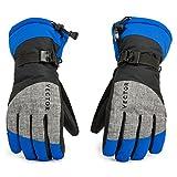 Vector Winter Skihandschuhe, Warme Handschuhe mit Verstellbaren Bündchen, Atmungsaktiv, Hydrophobe Oberfläche Halten Sie die Hände trocken, Schnalle zum Zusammenfügen, für Herren Damen