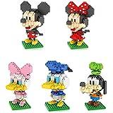 Aimee shine loz Diamond Micro bloque de Mickey Mouse pato Donald Micky Minny Goofy Toys 5pcs/set