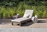 Koll Living Gartenliege / Sonnenliege Sunlocker in braun, inkl. passender Auflage, aus Kunststoff in Rattanoptik, witterungsbeständig und langlebig, 4-fach verstellbare Rückenlehne