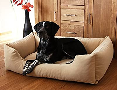 Knuffelwuff Dreamline - Dog Bed in Sizes: L - XXXL in Brown, Beige or Black