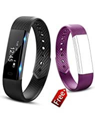 Fitness Armband Wasserdicht, Molorical UP1 Molorical Smart Fitness Activity Tracker Wristband , Schrittzähler, Schlafüberwachung, aktivitätstracker - smart bracelet -Kalorienzähler / Sleep Monitor Tracker / Call Benachrichtigung Smartwatch für Android Smartphone wie iPhone, Huawei, Samsung, HTC, Sony, usw