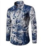 CHENGYANG Herren Slim Fit Freizeit Hemd Langarm Blumen Drucken Shirts Top Blouse Hemden (Style#3, 3XL)