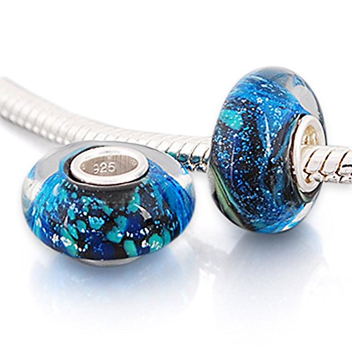 Andante-Stones 925 Sterling Silber Murano Glas Bead