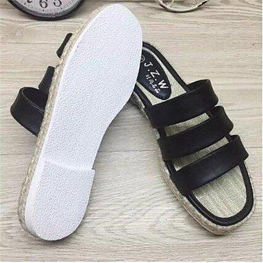 LFNLYX 2016 estate afflusso di canapa femmina fondo sandali e pantofole coreano il comfort delle donne. . . White