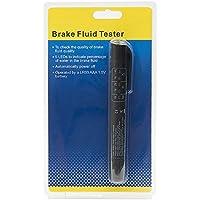 Hakkin Liquide de Frein Testeur Outil de Test de Véhicules avec 5 Indicateur LED pour Brake Fluid Tester est Applicable Aux Liquides de Freins DOT 3 / 4 / 5, ce qui s'applique à une Grande majorité des Voitures ou Moto.