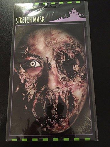 Creepy Zombie Stretch Gesicht Maske haut, Morbid, Halloween Horror Prop für Kostüm