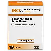 Miesepeter - IBO Scheißlaune-Weg 800 akut Lutschdragées - Bei anhaltender scheiß Laune - Lutschdragees / Lutschbonbons / Bonbons / Lutschpastillen / Lustige Bonbons / Witzige Bonbons / Lustige Süßigkeiten / Witzige Süßigkeiten / Süssigkeiten Box - Naschen Nascherei - Lustiger Scherzartikel / Witziger Scherzartikel (Orange, 1 Pack - 18 Dragées)