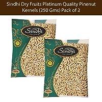 Sindhi Dry Fruits Platinum Quality Pinenut Kernels (250 GMS) Pack of 2