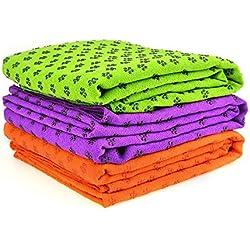 BESTEK antideslizante toalla de Yoga Dot Grip (tres colores disponibles)
