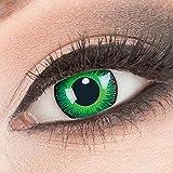 Evil Lens 1 Paar Crazy Fun- Shining -Kontaktlinsen mit Stärke -6,00 Dioptrin + Behälter