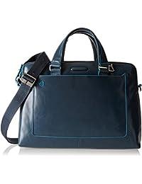 Piquadro Blue Square 13'' Maletín con compartimento para portátil azul claro