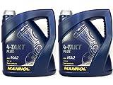 MANNOL 4-Takt Plus API SL SAE 10W-40 teilsynthetisch 8 Liter Motorrad ÖL Motorradöl Roller