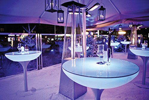 Table haute LOUNGE 105 LED ACCU OUTDOOR