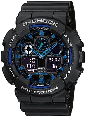 CASIO G-shock GA-100-1A2ER - Reloj de caballero de cuarzo, correa de resina color negro