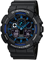 G-Shock Men's Quartz Watch with Black Dial Analogue/Digital Display and Black Resin Strap GA-100-1A2ER
