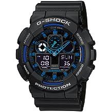 Casio G-Shock – Reloj Hombre Analógico/Digital con Correa de Resina – GA-100-1A2ER